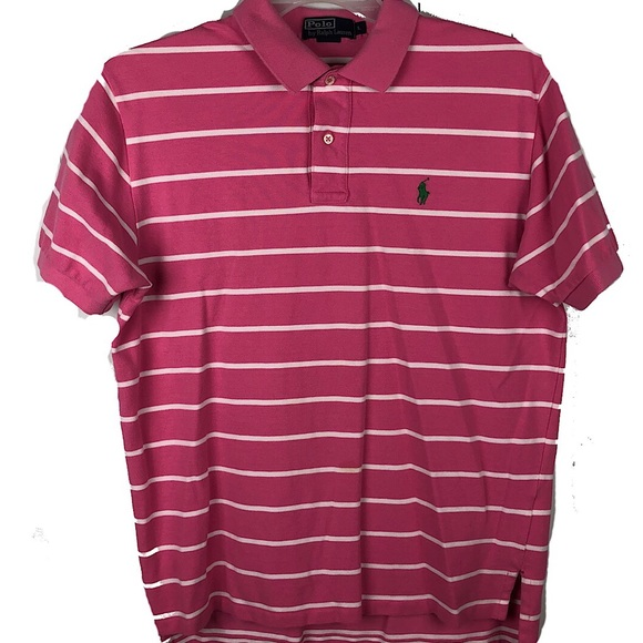 Polo by Ralph Lauren Other - Polo Ralph Lauren polo shirt Pink White Striped L